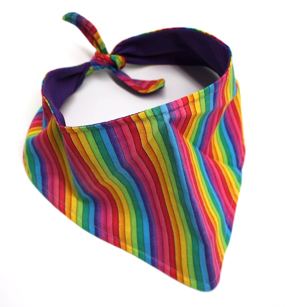 Dog Bandana, Size Large Rainbow Pride