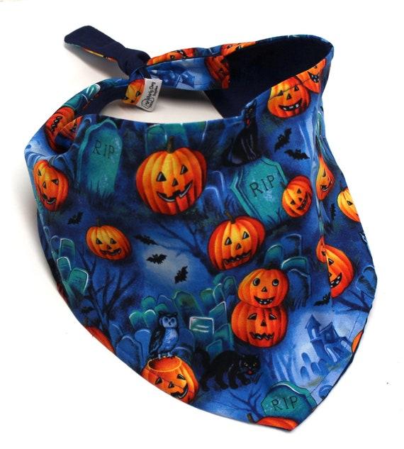 Dog Bandana, Halloween Jack o Lanterns