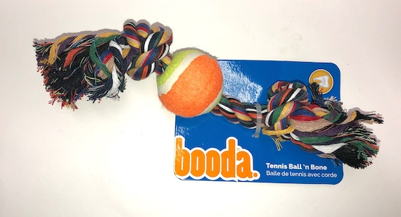 Rope Bone + Tennis Ball Tug Dog Toys, Toss Tug Dogs Toy
