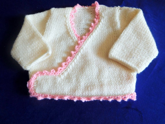 c758a42be21f Baby Knitted Jacket Baby Knitted Bolero White and Pink Baby