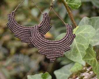 Earthy macrame earrings