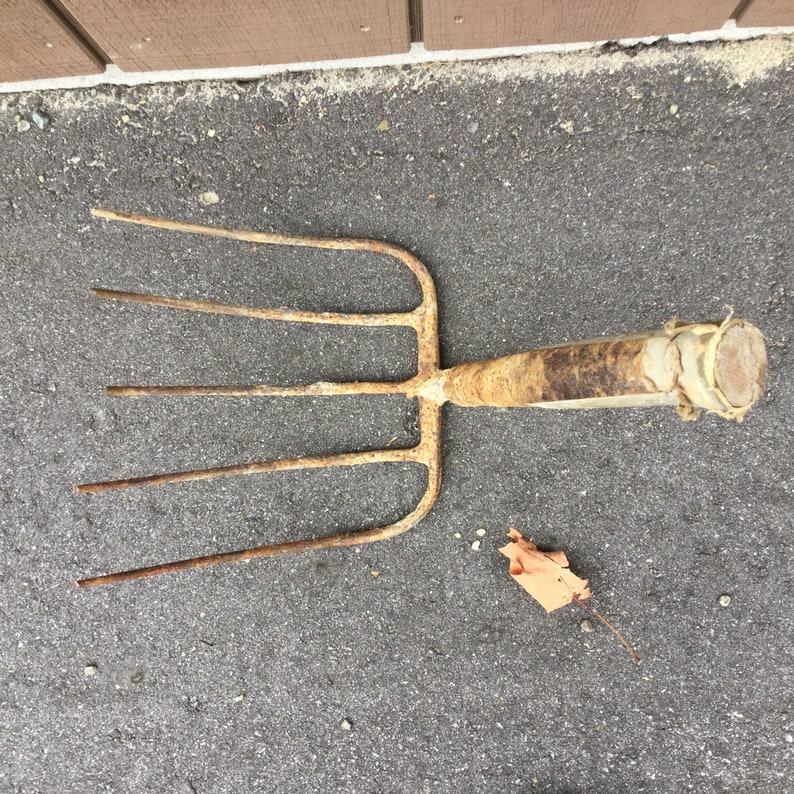 Primitive Maine Farm Garden Fork Rustic Potato Digging Fork