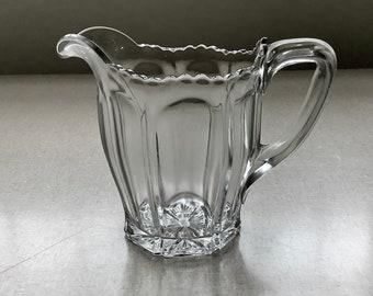 Depression Glass Milk Jug, Clear Pitcher