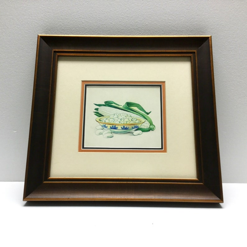 Can Label Graphic Painting Original Vintage OOAK Southwest Seed Packet Succotash Kitchen Wall Art
