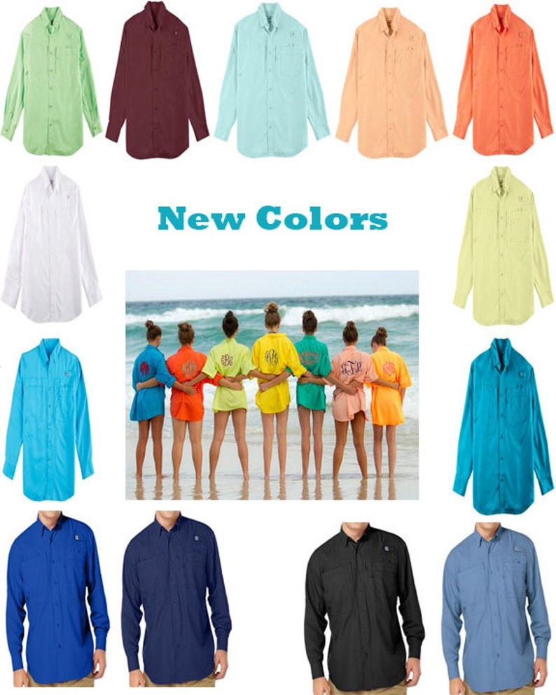 9d502172e8d37 Monogrammed Fishing Shirt long sleeve Adult sizes Beach | Etsy