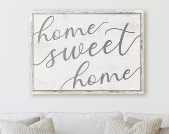 Garry Floyd Print Home Sweet Home Canvas 30x30x3.8cm