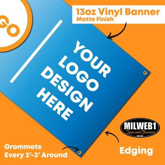 4/'x8/' Custom Full Color Vinyl Banner