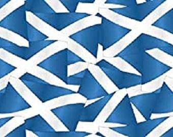 Scotland Flag 100/% Cotton Fabric 58/'/' PRICE PER METER
