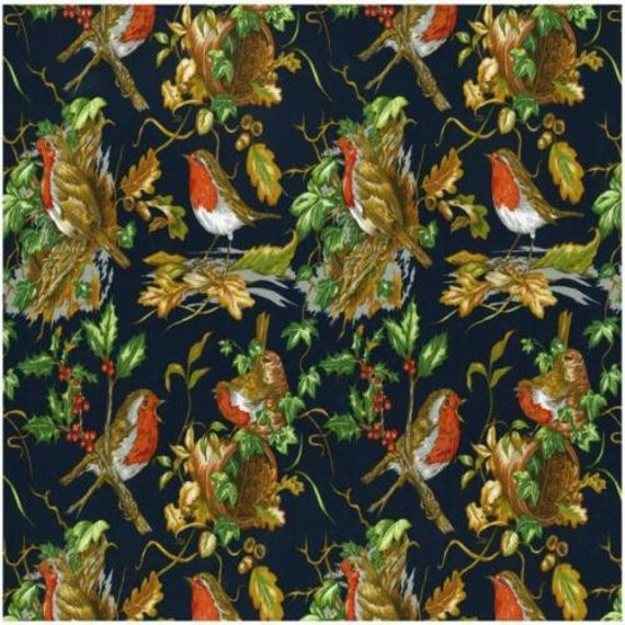 Fat Quarter Christmas Teddies Cotton Quilting Fabric  Nutex