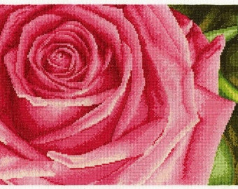 Rose Flower Counted Cross Stitch Kit