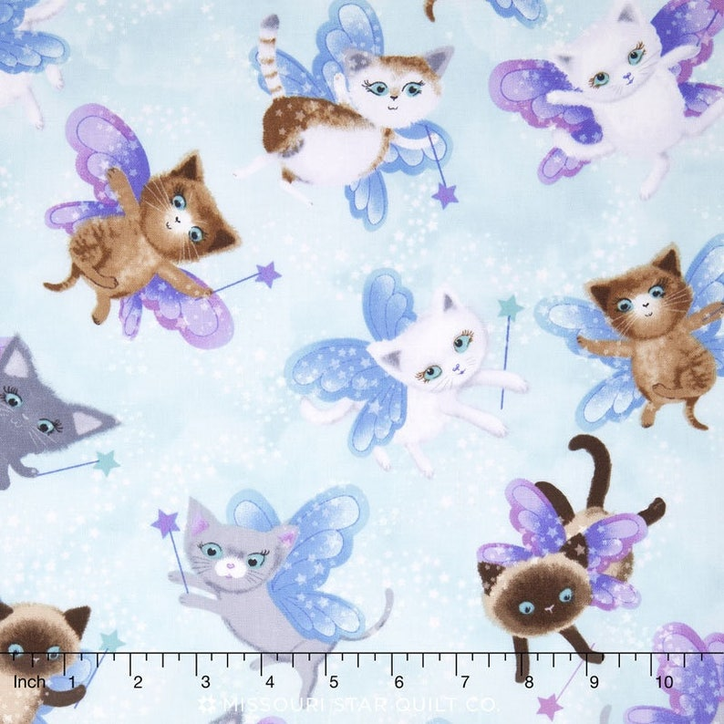 Fat Quarter Wild Wings Strolling Along Cats Cotton Quilting Fabric Springs 51391