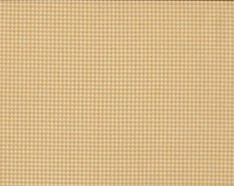 Fat Quarter Gingham Taupe Cream 100% Cotton Quilting Fabric Makower