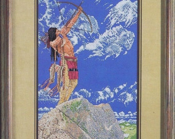 Skyhunter Cross Stitch Chart Native American Red Indian