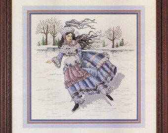 Winter Maiden Lady Counted Cross Stitch Chart Pattern