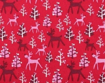 Fat Quarter Rudolf Christmas Cotton Sewing Quilting Fabric