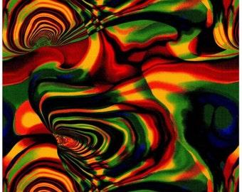 Fat Quarter Tuku Bright Cotton Quilting Fabric Nutex Bright Multi Coloured