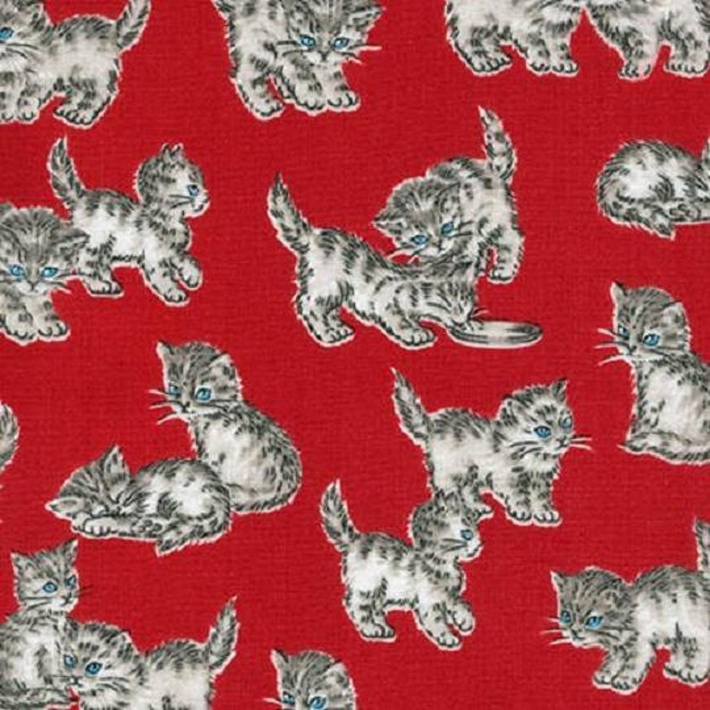 Kaufman Whiskers /& Tails SRK 15768 3 Red Kittens Cotton Fab BTY