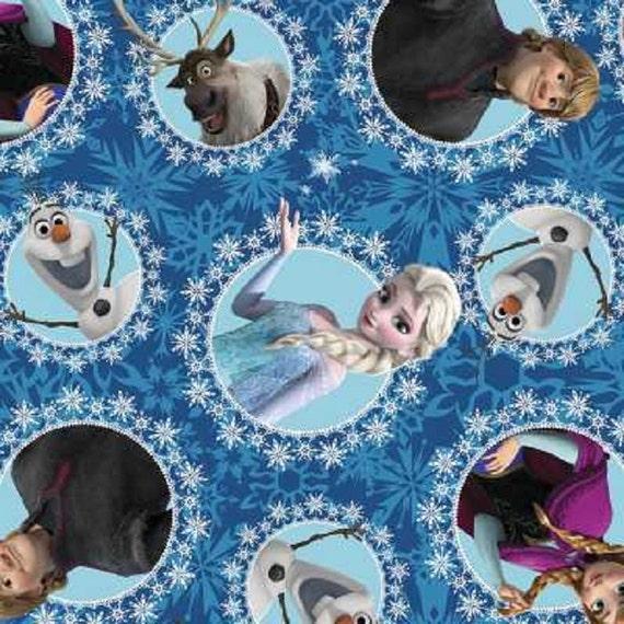 Disney Frozen Ice Skating Lilac Elsa and Anna Polyester Fleece Fabric Half Metre