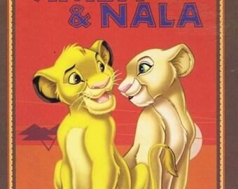 Disney Lion King Simba And Nala Cubs 100% Cotton Quilting Fabric Panel 55432