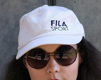 c407cd55660 90 s white Fila Sport Unisex Cap Hat