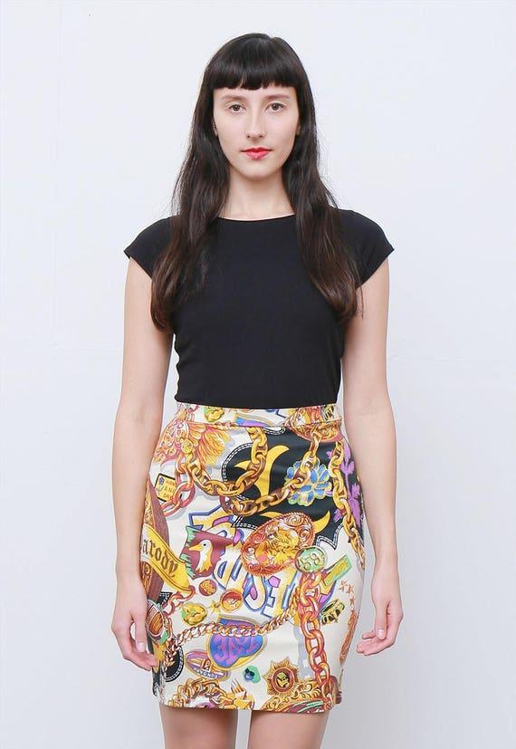 Rare 80's Vintage Jungle Kenzo Print Mini Skirt