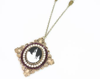 CLEARANCE - Fairy Tale Castle Necklace with Owl Charms