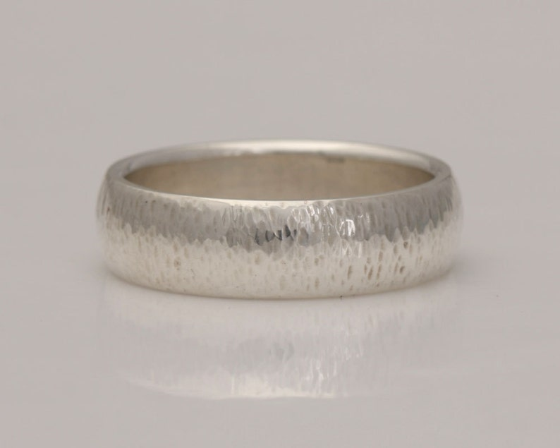 #767. Hammered silver band size 8 78 ready to ship or custom sizes 4 to 14
