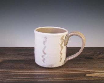 Mug - white slip and finger trail design