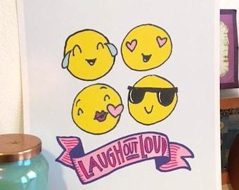 Emoji Print - Emoji Wall Art