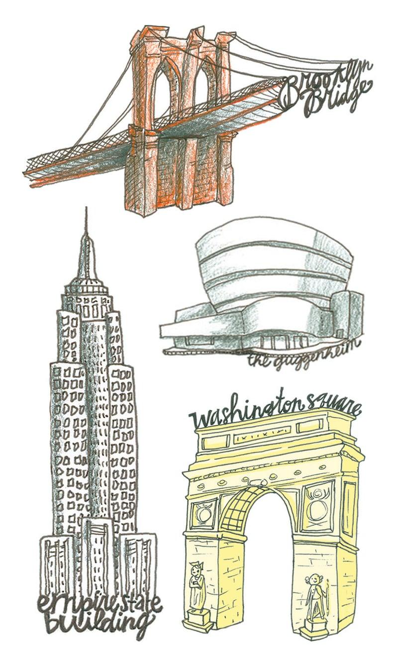 New York City Temporary Tattoos NYC Party Favor Temporary | Etsy