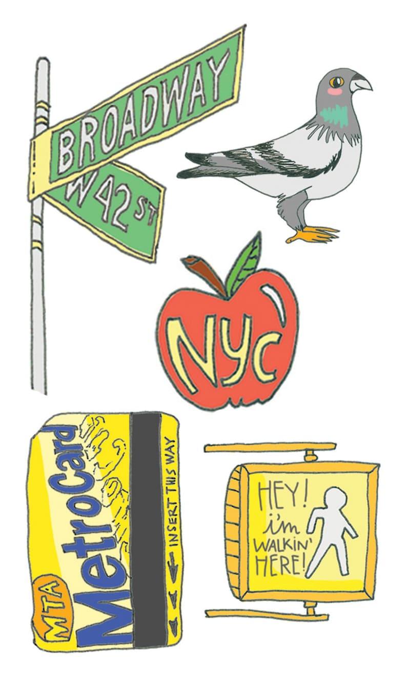 New York City Temporary Tattoos NYC Party Favors Temporary | Etsy