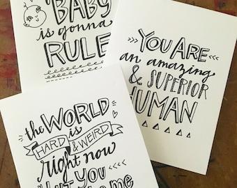 Custom Drawn Mother's Day Card - Illustrated Card - Handlettered Card - Father's Day Card - Custom Birthday Card - Graduation Card