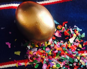 Gold Confetti Eggs Weddings, Baby Showers Cascarones