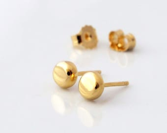 Tiny Stud Earrings - Gold - Circle Stud Earrings - Circle Earrings - Minimal Earrings - Gold Stud Earrings - Round Earrings - Tiny Earrings