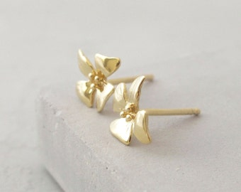 Tiny Stud Earrings Gold - Tiny Studs - Flower Studs Gold - Tiny Earrings - Flower Studs - Flower Earrings - Flower Stud Earrings