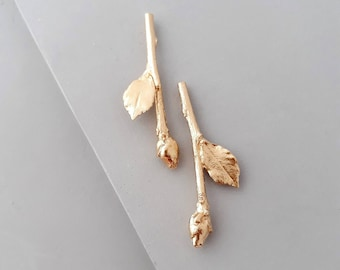 Tree Earrings - Long Twig Earrings - Long Earrings - Statement Earrings - Twig Earrings - Branch Earrings - Botanical Jewelry