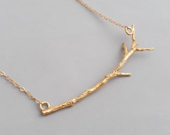 Branch Necklace - Delicate Gold Necklace - Botanical Necklace - Tree Necklace - Twig Necklace - Minimalist Necklace - Nature Necklace