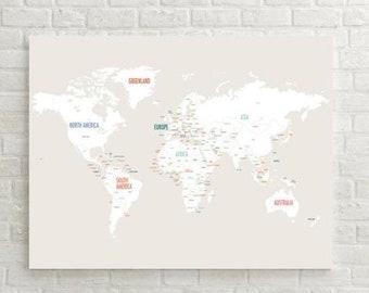 ON SALE World Map Art Travel Map World Map Canvas Travel | Etsy Canvas World Maps For Sale on world maps history, world maps religion, old world map sale, world maps france, world maps software, world map globe sale, world maps games, world maps art, world maps furniture, world maps books,