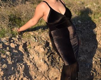Long Black Dress/Dress/Maxi Dress/Black Dress/Velvet Dress/Mermaid Cut Dress/Long velvet Dress/Party Dress/Gown/Black Gown/Gala Dress