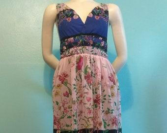 Maxi Dress/Long Dress/Boho Dress/Bohemian Dress/Floral Dress/Tiered Dress/Chiffon Dress/Party Dress/Hippie Dress/Flowy Dress/Designer Dress
