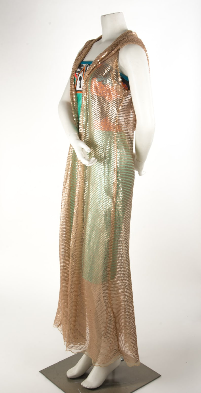 Sequin Hooded Duster
