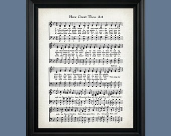 How Great Thou Art Etsy