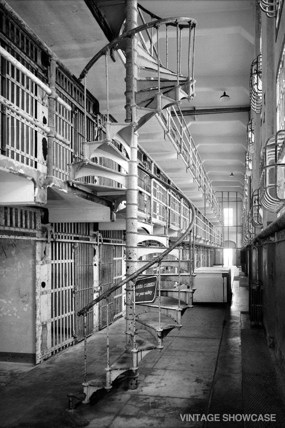 Vintage Photo Inside Alcatraz Prison San Francisco Photo