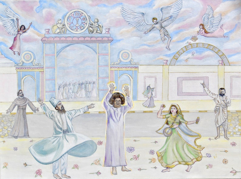 GICLEE ART PRINT Sathya Sai Baba  God is Our Best Friend image 0