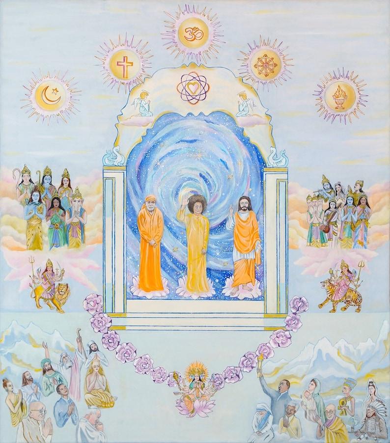 SATHYA SAI BABA Canvas Print Lord of the Universe image 0