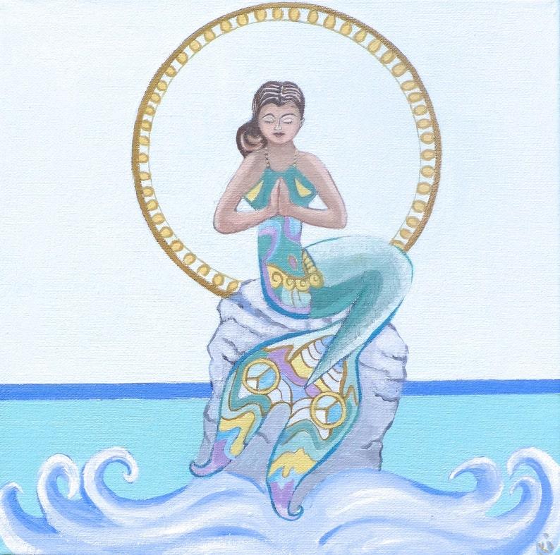 GICLEE PRINT Namaste Mermaid image 0