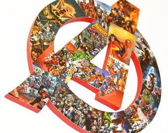 Avengers Bedroom Decor - Superhero Wall Art - Marvel Themed Baby Shower Gift - Comic Book Nerd Fan Art - Marvel Room Decor