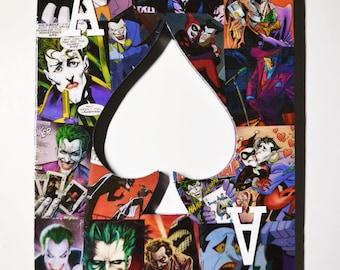 Joker Themed Nerd Lair Decor - Superhero Wall Art - Marvel Themed Baby Shower Gift - Comic Book Nerd Fan Art - Marvel Room Decor