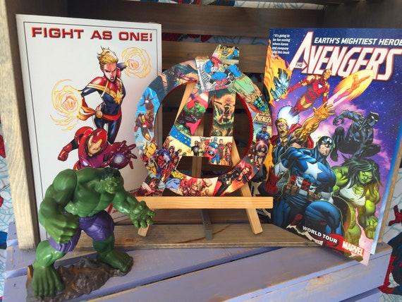 SMALL Avengers Bedroom Decor - Superhero Wall Art - Marvel Themed Baby  Shower Gift - Comic Book Nerd Fan Art - Marvel Room Decor