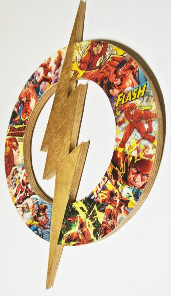 The Flash Man Cave Decor Superhero Wall Art Dc Themed Baby Etsy
